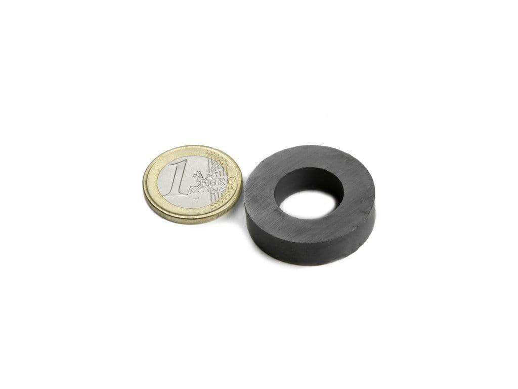 Feritový magnet medzikružie D30/16mm, H8mm, Ferit, Y35, bez povrchovej úpravy