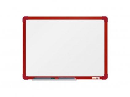 Emailová tabuľa ramček červený 60x45 cm