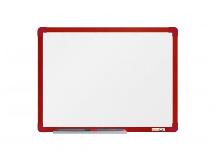 Emailová tabuľa ramček červený 60x90 cm