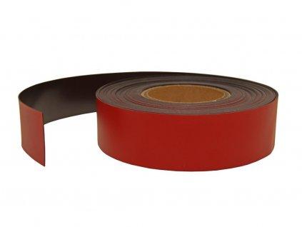 Magnetická páska červená (10x0.7 mm) feritová
