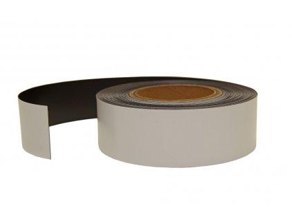 Magnetický pásek biely