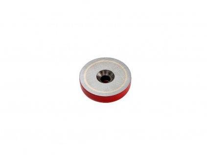 AlNiCo magnetická šošovka so stredovou dierou a sražením - pozinkovaná