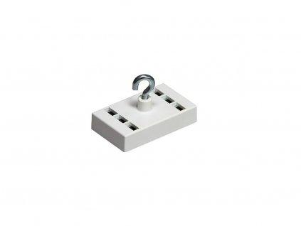 Dekorační magnet feritový / neodymový biely