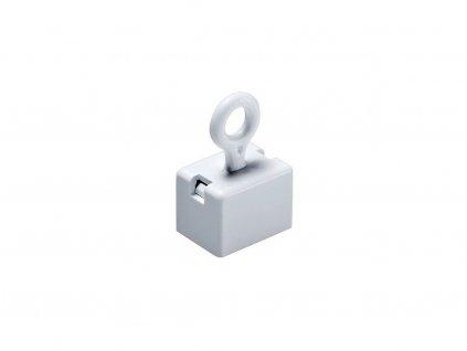 Dekorační magnet feritový s očkem biely