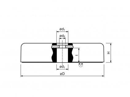 6324 feritova magneticka cocka poplastovana se stredovou dirou4