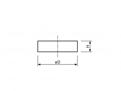 Samariový magnet valec 24x3 mm