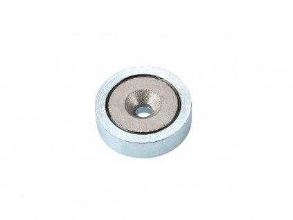 Samariová magnetická šošovka so stredovou dierou a sražením 20x4,5 (0,1/-0,1)x6 mm