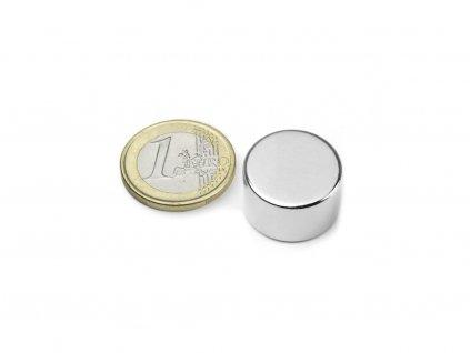 Neodymový magnet valec D20x12mm, Neodym, N42, ponikelovaný