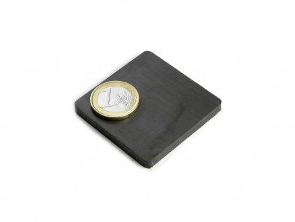 Feritový magnet hranol 50x50x5mm, Ferit, Y35, bez povrchovej úpravy