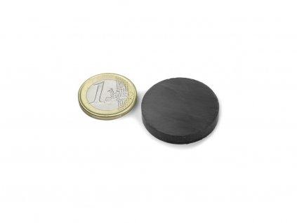 Feritový magnet valec D30x5mm, Ferit, Y35, bez povrchovej úpravy