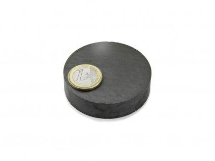Feritový magnet valec D60x15mm, Ferit, Y35, bez povrchovej úpravy