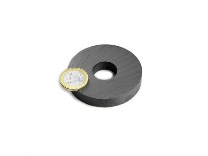 Feritový magnet medzikružie D60/20mm, H10mm, Ferit, Y35, bez povrchovej úpravy