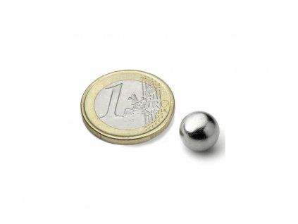 Neodymový magnet guľa D10mm, N40, pochromovaný