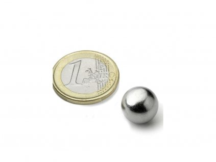 Neodymový magnet guľa D12.7mm, N42, pochromovaný
