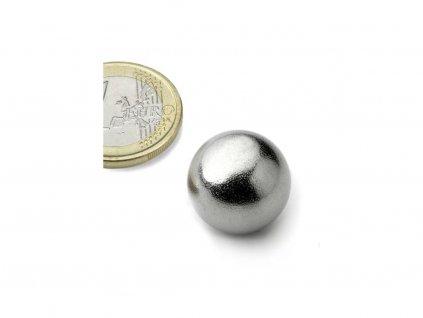 Neodymový magnet guľa D19mm, N38, pochromovaný