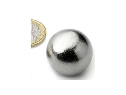 Neodymový magnet guľa D30mm, N40, pochromovaný
