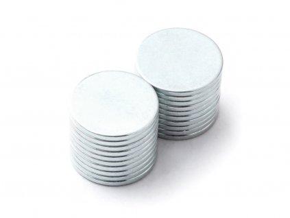 Neodymový magnet valec D12x1 mm, Neodym, N38, pozinkovaný