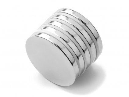 Neodymový magnet valec D25x3 mm, Neodym, N42, ponikelovaný