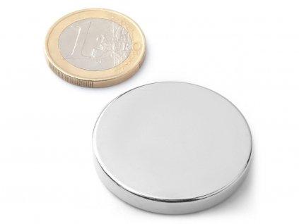 Neodymový magnet valec D35x5 mm, Neodym, N42, ponikelovaný