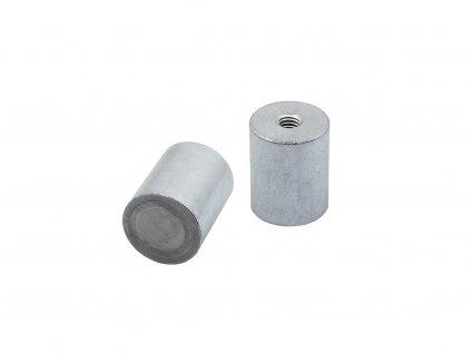 4790 4 alnico magneticka cocka valcova s vnitrnim zavitem 20x25 mm