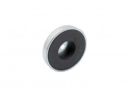 4998 6 feritova magneticka cocka se stredovou dirou 63x6 5x14 mm