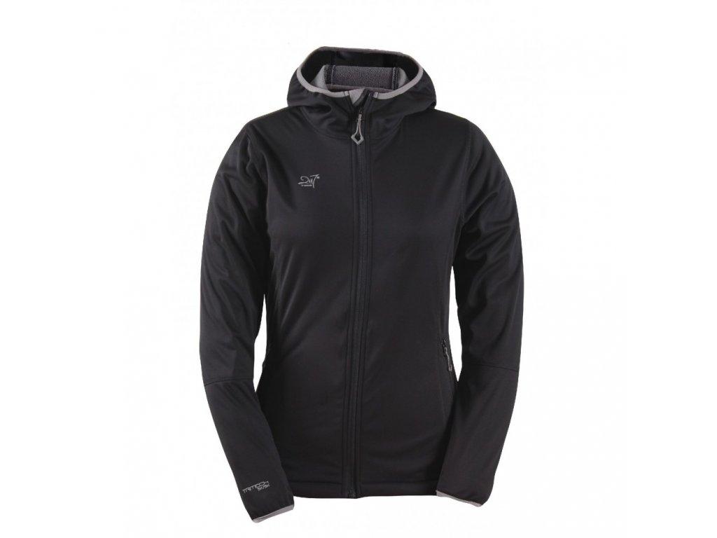Dámská NOS softshellová bunda 2117 SKRATTEN s kapucí - černá
