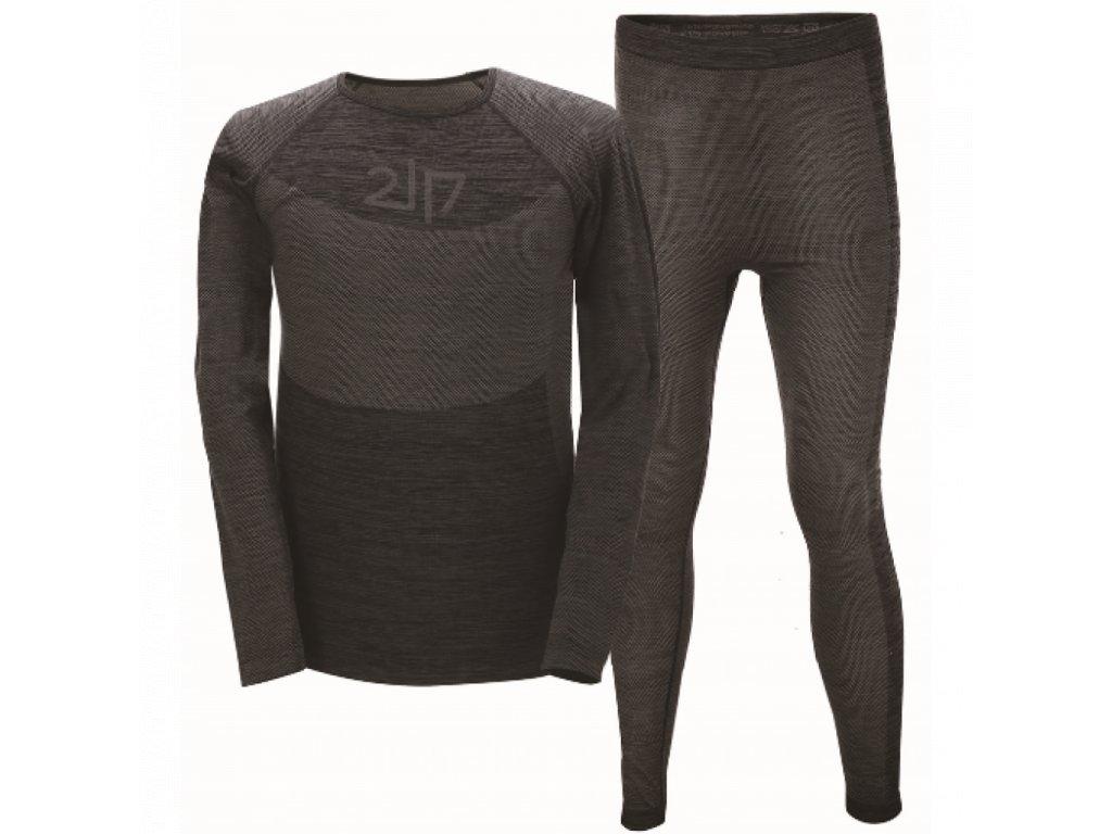 Pánské bezešvé spodní prádlo 2117 FALEBO - dk grey