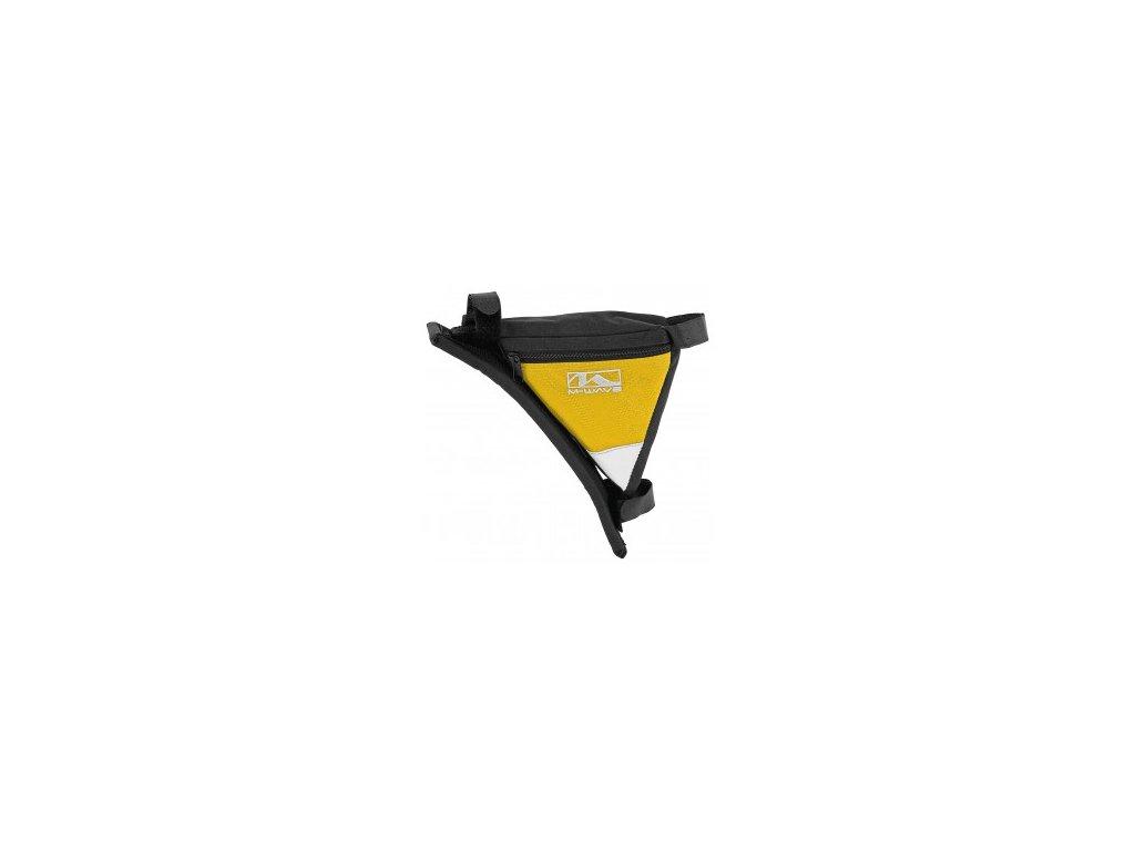 Taška M-WAVE žlutá trojúhelníková do rámu