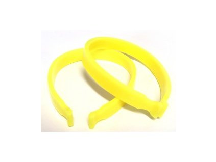Svorka na nohavice žlutá plast, pár