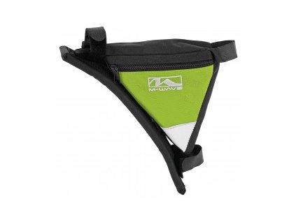 Taška M-WAVE zelená trojúhelníková do rámu