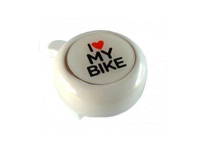 Zvonek ocel I love my bike 3D motiv