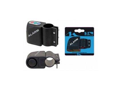 Alarm kódový na kolo, černý na kartě