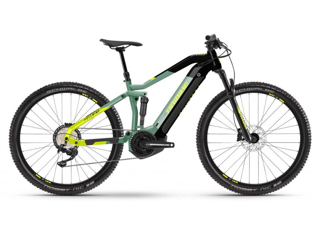 "Haibike Sduro FullNine 6.0/ Yamaha - MTB 29"" /2021 (Barva Zeleno-černá, Velikost kol 29"", Velikost rámu XL (182-195 cm))"