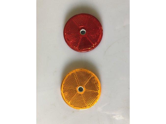 odrazka kulatá červená 60 mm