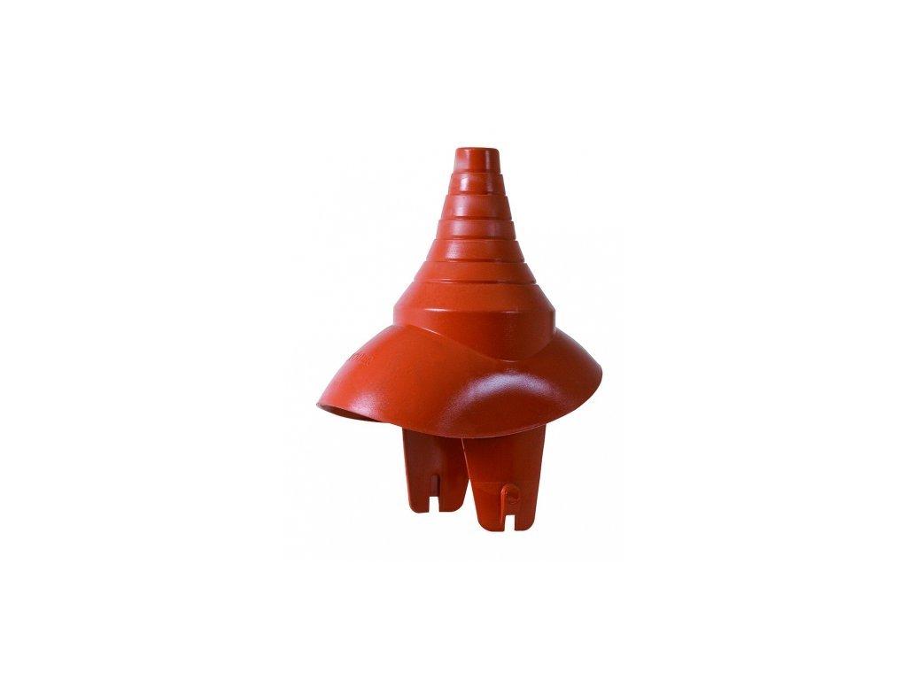 Antenni pruchodka 20-77mm červená