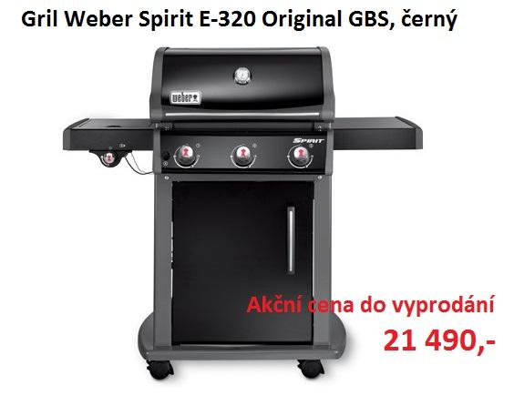 Gril Weber Spirit E-320 Original GBS, černý