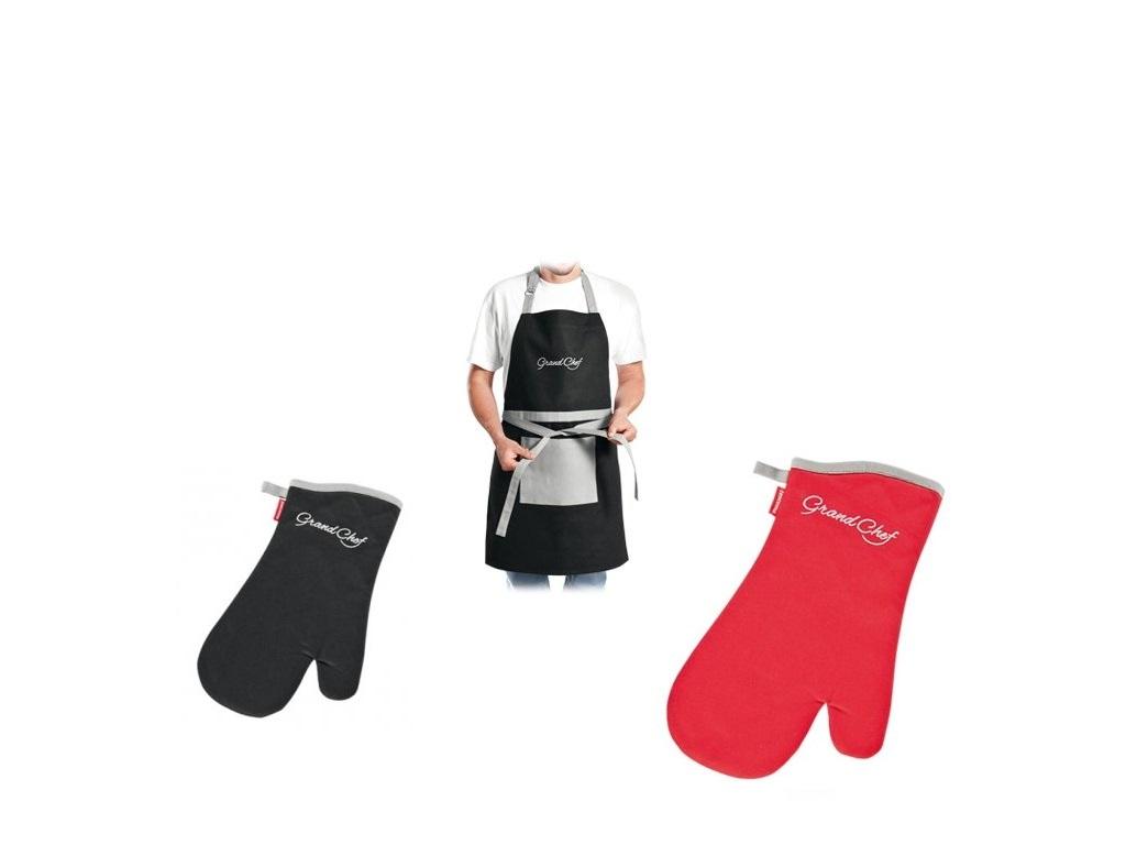 Kuchyňské rukavice, chňapky a zástěry
