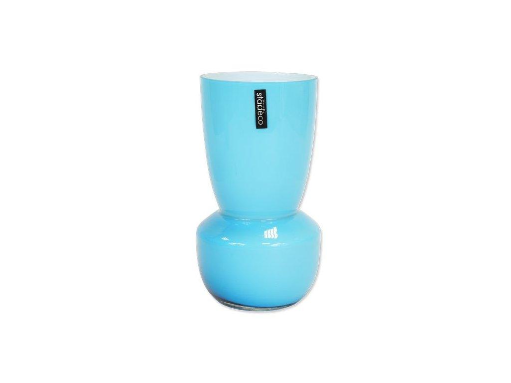 Skleněná váza Stardeco Rolin modrá 25 cm