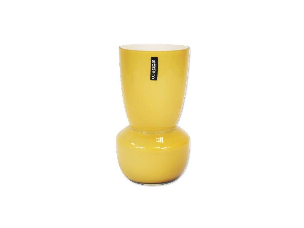 Skleněná váza Stardeco Rolin hnědá 25 cm