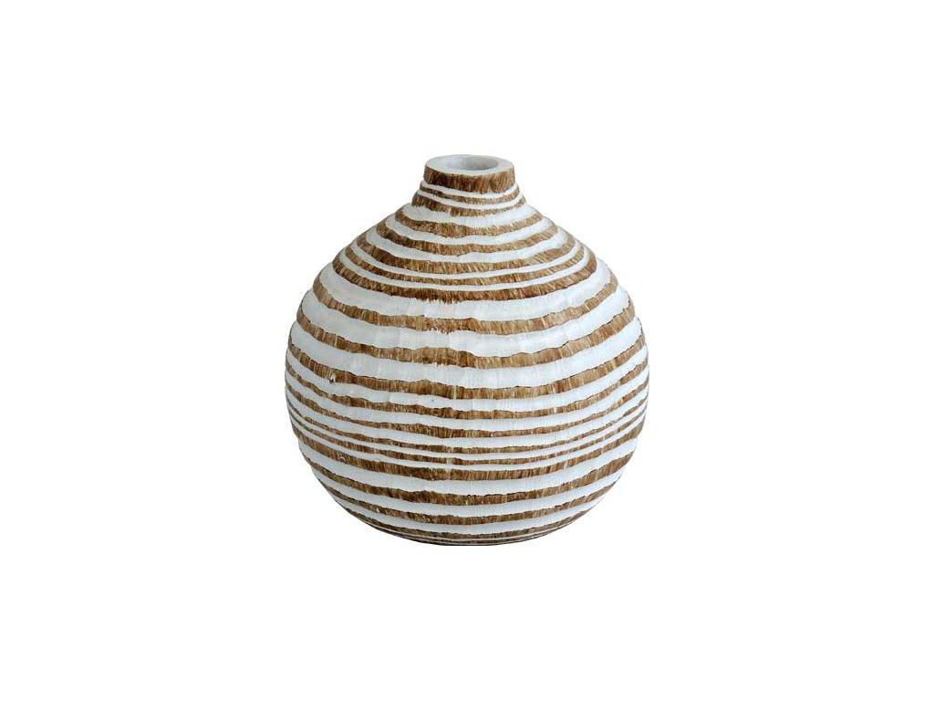 Polyresinová váza Stardeco oválná 13,5 cm
