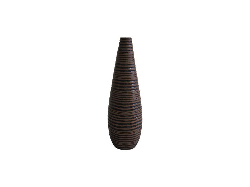 Polyresinová váza tmavá 37,5 cm