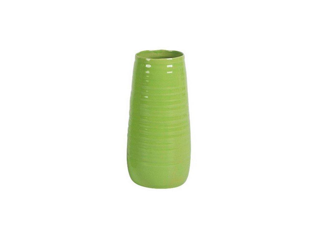 Keramická váza Stardeco Arizona zelená 29 cm