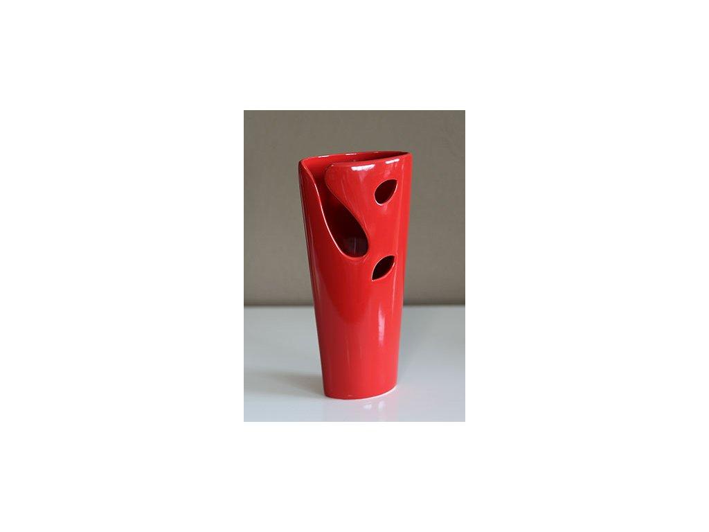 Váza keramická červená HL751470  27 cm