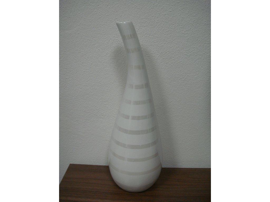 Lexus Light - bílá keramická váza 36cm