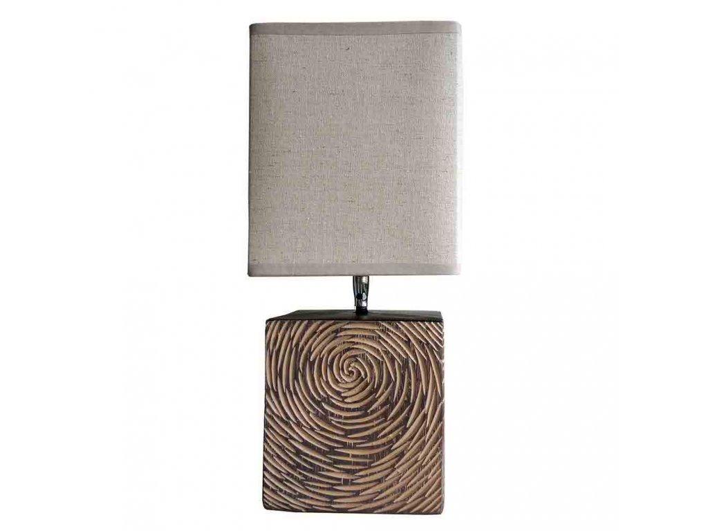 Stolní polyresinová lampa v přírodní barvě