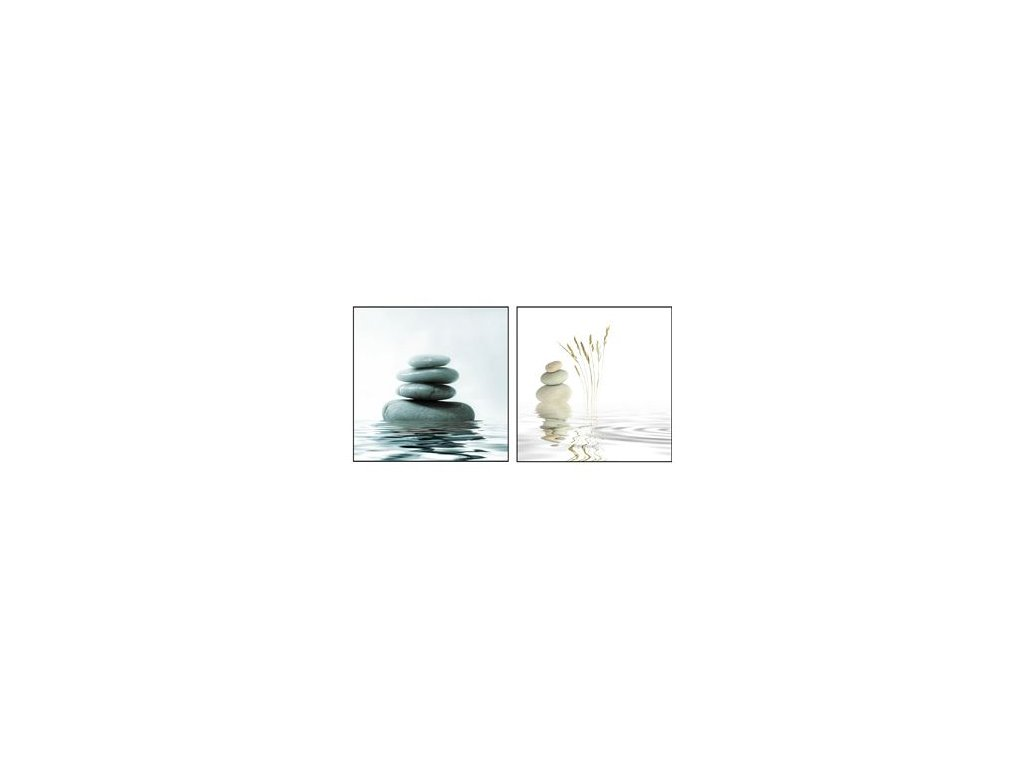 Sada obrazů 2 ks Autronic - oblázky