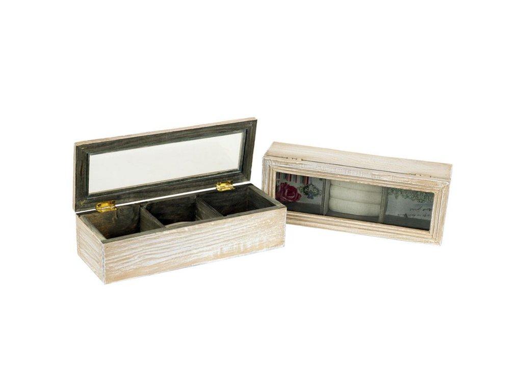 Dřevěná šperkovnice Autronic HB706043 světlá