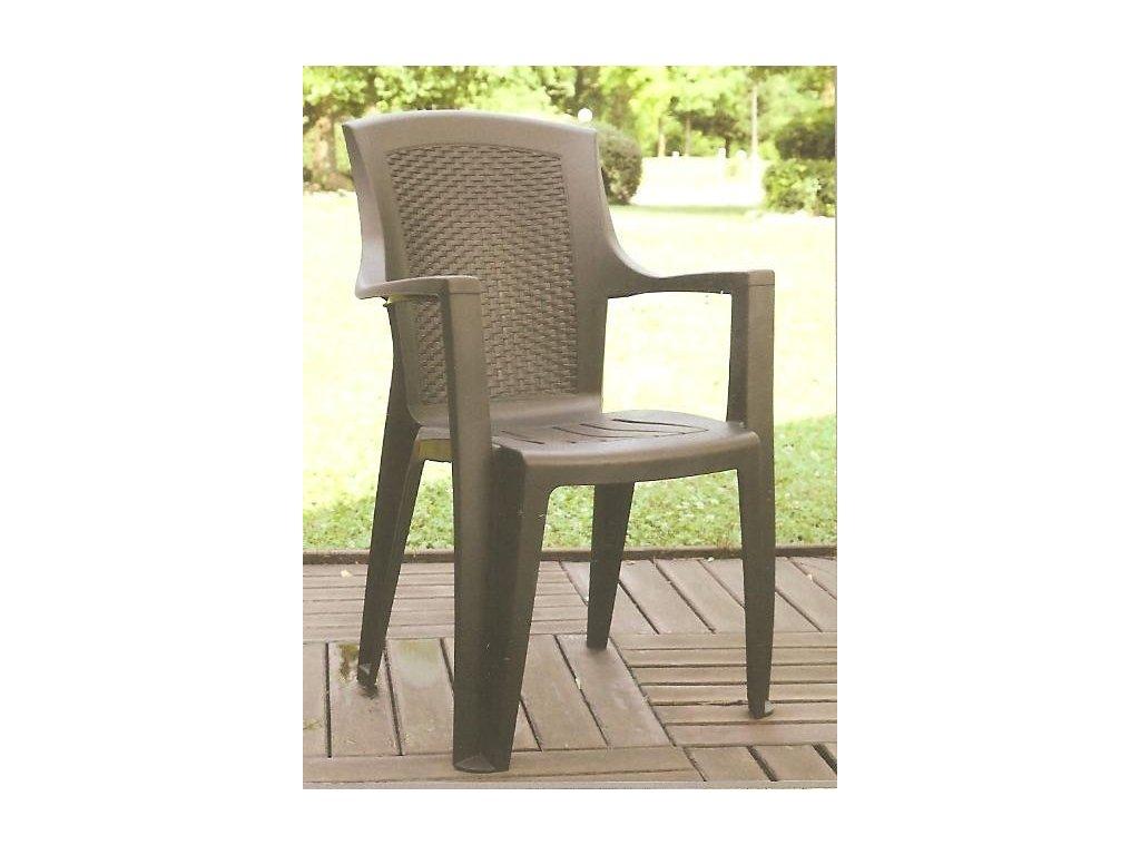 Židle EDEN hnědá