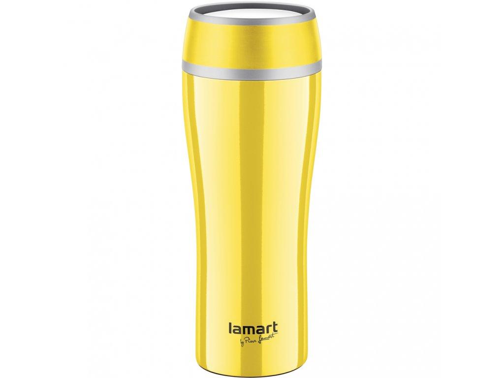 Termohrnek 0,4l žlutý FLAC - LAMART LT4027
