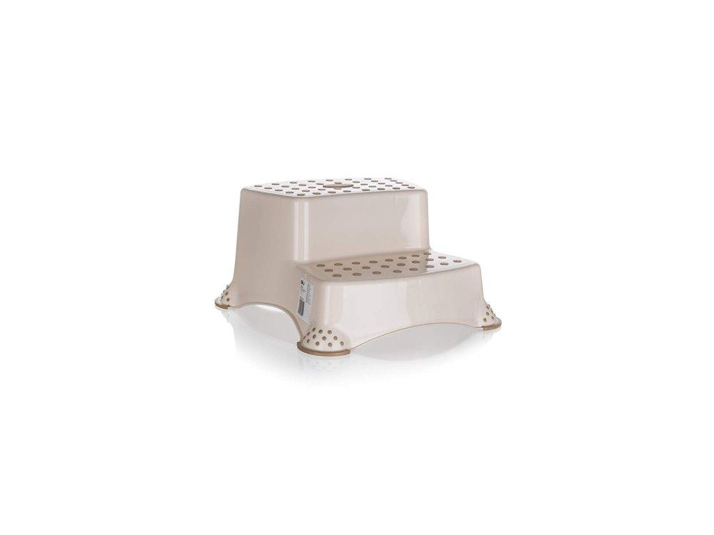 Stolička - dvojschůdek 40 x 37 x 21 cm, krémová
